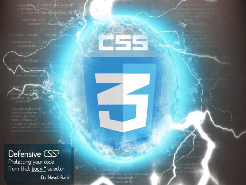 Defensive CSS3